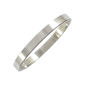 Platinum Wedding Ring Flat - Polished - 2.5mm