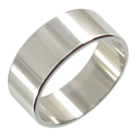 Platinum Wedding Ring Flat - Polished - 8mm