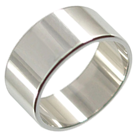 Platinum Wedding Ring Flat - Polished - 9mm